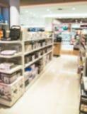 Zamazane elektronika wydziałowe w centrum handlowym zdjęcia stock