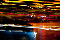 Zamazane latarnie uliczne Zdjęcie Royalty Free
