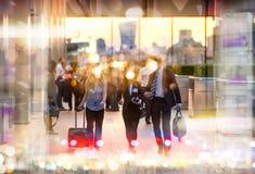 Zamazane sylwetki odprowadzeń ludzie Ludzie miasta Londyn Obraz Royalty Free
