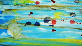 Zamazanego czerwieni zieleni błękita błotnisty woskowaty żywy tło w żywych odcieniach Zdjęcia Royalty Free
