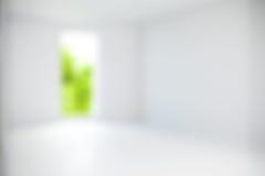 Zamazanego mieszkania własnościowego pusty pokój dla tła Zdjęcia Stock