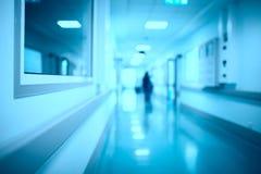 Zamazanego szpitalnego korytarza medyczny tło Obraz Royalty Free
