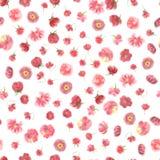 Zamazanego watercolour kwiatu bezszwowa tapeta ilustracja wektor