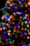 zamazani bożonarodzeniowe światła Zdjęcie Royalty Free