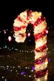 Zamazani bożonarodzeniowe światła Fotografia Royalty Free
