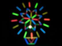 Zamazani lekcy tła w nocy światła festiwalu zdjęcia royalty free