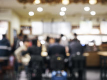 Zamazani ludzie w restauracja baru kawiarni tle Obrazy Royalty Free