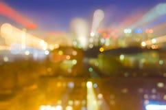 ZAMAZANI nocy światła Z BOKEH skutkiem Zdjęcie Royalty Free