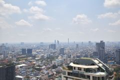 Zamazani pejzaże miejscy w Bangkok, Tajlandia zdjęcie stock