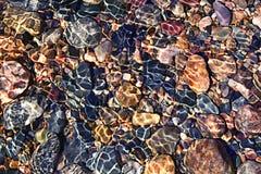 Zamazani tekstury morza kamienie Obrazy Royalty Free