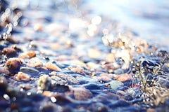 Zamazani tekstury morza kamienie Zdjęcie Royalty Free