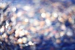 Zamazani tekstury świecenia morza kamienie Obrazy Royalty Free