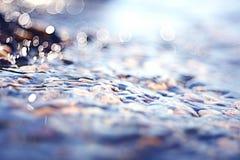 Zamazani tekstury świecenia morza kamienie Zdjęcie Stock