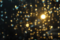 Zamazany światła bokeh skutek Obraz Stock