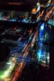 Zamazany abstrakcjonistyczny tła miasta tview nigh zdjęcie royalty free