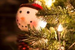 Zamazany bałwanu ornament Zdjęcia Stock