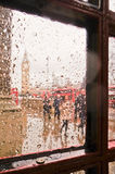 Zamazany Big Ben w deszczowym dniu Obrazy Stock