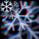 Zamazany boże narodzenie płatka śniegu znak z aberracjami Obrazy Royalty Free