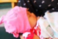 Zamazany dziecka dosypianie Obraz Royalty Free