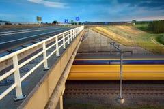 Zamazany film Intercity pociąg Zdjęcie Stock