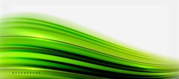 Zamazany fluid barwi tło, abstrakt fala linie, wektorowa ilustracja royalty ilustracja