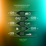 Zamazany Infographic projekta szablon Obraz Stock