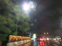 Zamazany miasto ruch drogowy Zdjęcia Stock