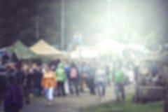Zamazany plenerowy festiwalu tło Zdjęcie Royalty Free