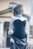 Zamazany portret tajemnicy kobieta Obraz Royalty Free