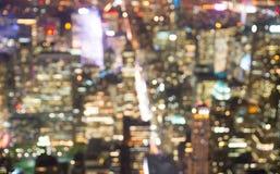 Zamazany powietrzny wizerunek Nowy York miasto obraz royalty free
