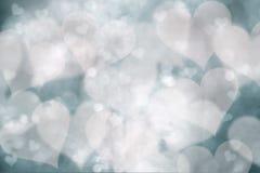 Zamazany serce kształtuje tło Fotografia Royalty Free