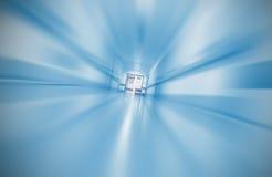 Zamazany szpitalny korytarza pojęcie nagły wypadek fotografia stock