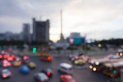 Zamazany tło ruchu drogowego dżem przy Jawnym zwycięstwo zabytkiem wewnątrz Fotografia Royalty Free