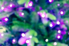 Zamazany tło z bokeh zaświeca na zieleni, zbliżeniu zamazany/ Zdjęcie Royalty Free