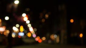 Zamazany widok miasto ulica zdjęcie wideo
