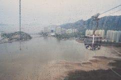 Zamazany widok od NgongPing wagonu kolei linowej Obraz Royalty Free