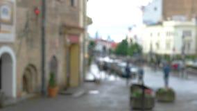 Zamazany widok ulica zbiory