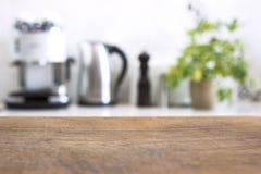 Zamazany wizerunek nowożytny kuchenny wnętrze dla tła Fotografia Royalty Free
