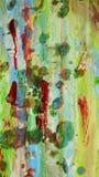 Zamazany zielony błękitnej czerwieni błotnisty woskowaty żywy tło w żywych odcieniach Obrazy Stock