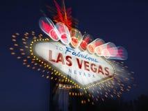 zamazanych las szyldowy Vegas powitanie Zdjęcia Royalty Free