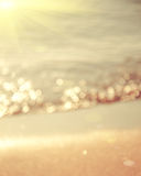 zamazująca tło abstrakcjonistyczna plaża Fotografia Stock