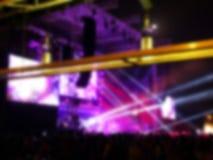 zamazujący abstrakcyjne tło Bokeh oświetlenie wspólnie z widownią Zdjęcia Stock