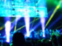 zamazujący abstrakcyjne tło Bokeh oświetlenie wspólnie z widownią Zdjęcie Stock