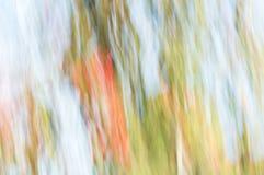 zamazujący abstrakcyjne tło Pomarańczowy zielony i błękitny Obraz Stock