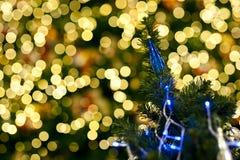 Zamazujący bożonarodzeniowe światła Obraz Royalty Free
