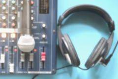Zamazujący W kontrolnego pokoju audio systemu Obraz Royalty Free
