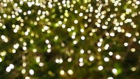 Zamazuje ostrość światło na czarnym tle od lampy w nocy na bożych narodzeniach przed nowego roku 2018 w ten sposób pięknym romant zdjęcie wideo