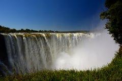 Zambesi flod och Victoria Falls zimbabwe Royaltyfri Foto