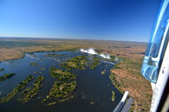 Zambesi river and Victoria Falls. Zimbabwe Stock Photos