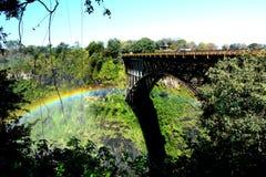 Zambesi river and Victoria Falls. Zimbabwe stock photo
